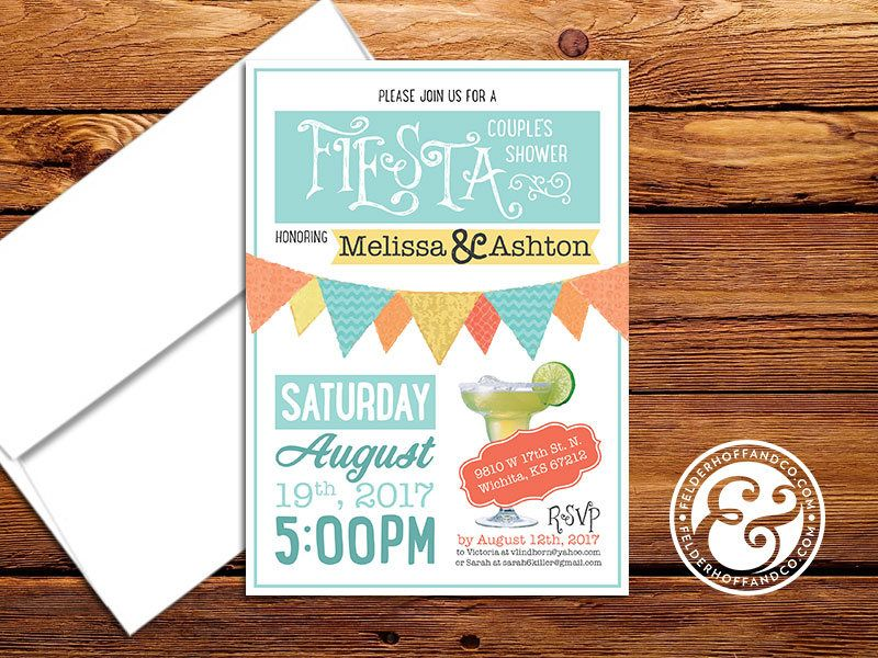 This super fun fiesta themed couples shower invitation