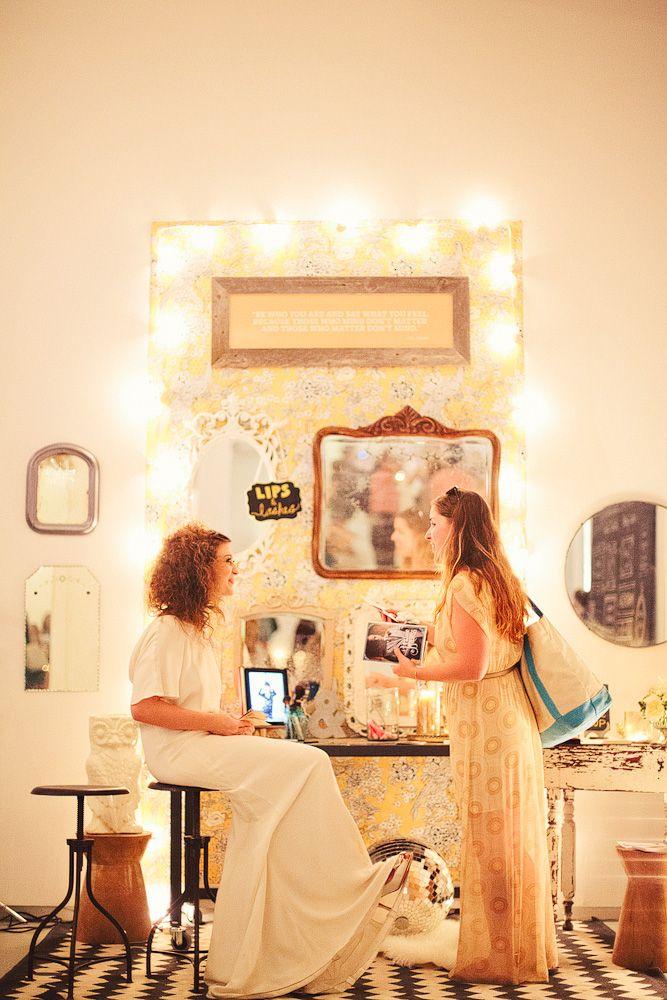 makeup booth sample wedding