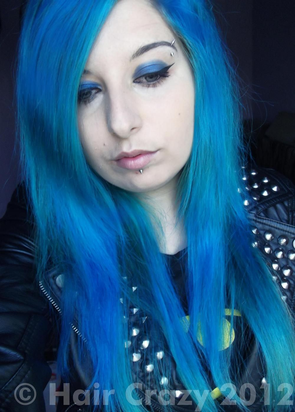 Pin By Tanya Johnston On Blue Hair With Images Blue Hair Goth