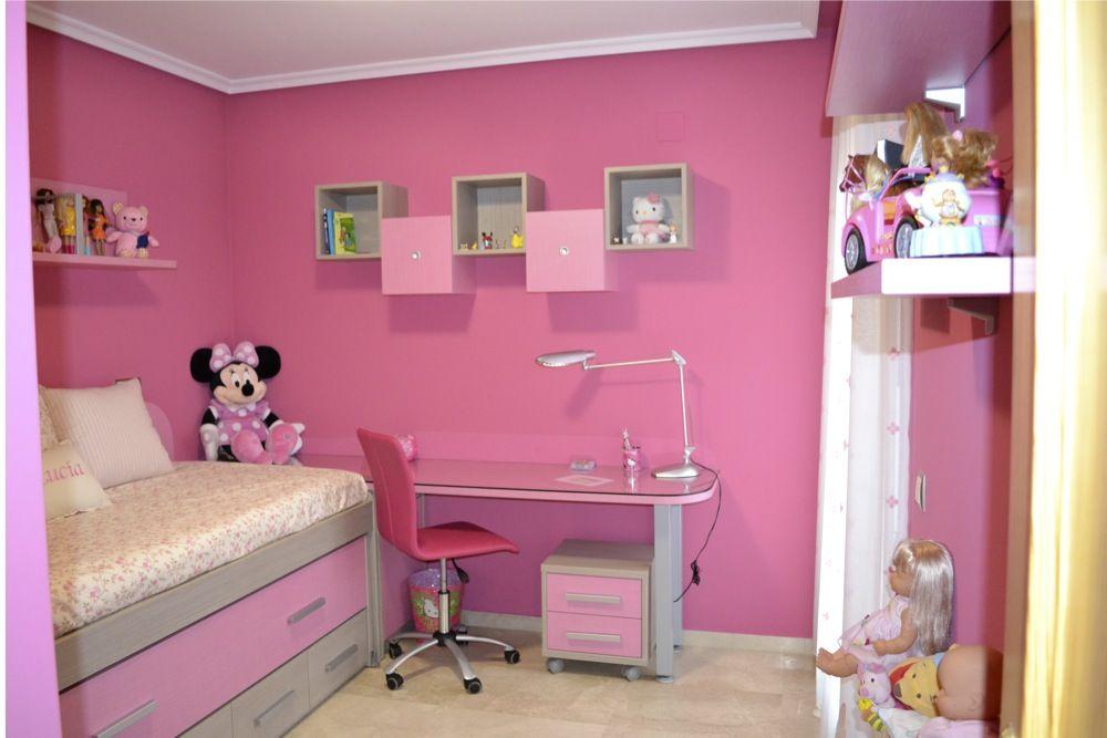 ejemplo dormitorio juvenil niña  Cuartos  Pinterest ...