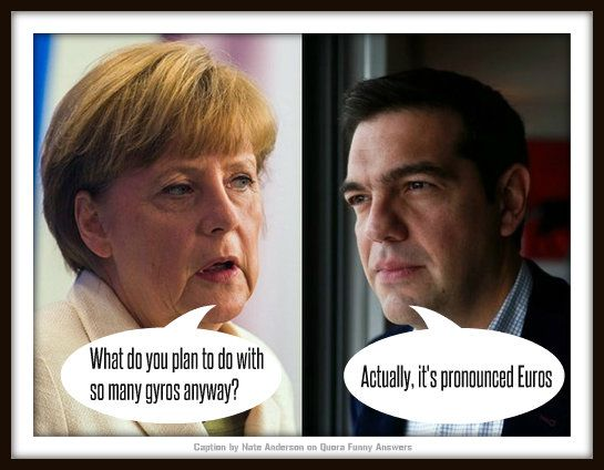Mutual incomprehension between the leaders of Greece and Germany this week.
