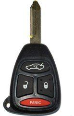 2006 06 Jeep Commander Remote & Key Combo 4 Button by