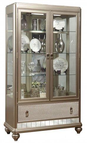 Diva Metallic China Cabinet 3 LOVE Product Dimensions 446