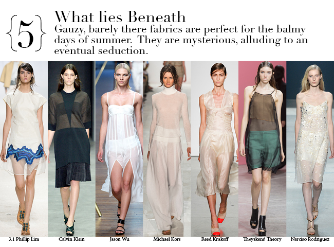 New York Spring 2014 Top Trends - What lies Beneath