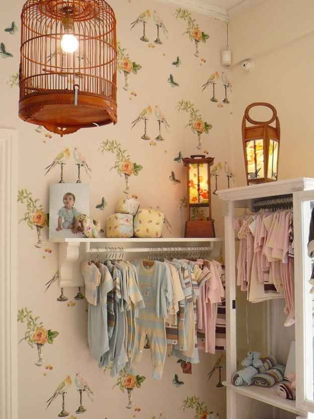 Hang clothes on the wall. | 25 Hacks To Make Room For A Baby In Your ...