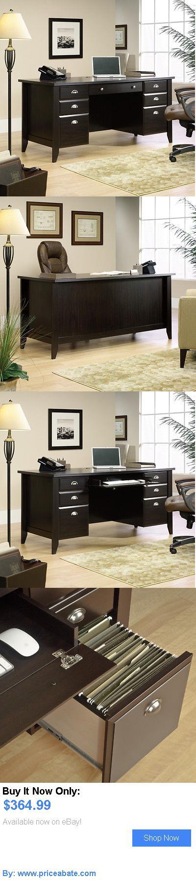 Office Furniture: New Sauder Furniture 408920 Home Office Shoal Creek Dark Wood Executive Cpu Desk BUY IT NOW ONLY: $364.99 #priceabateOfficeFurniture OR #priceabate