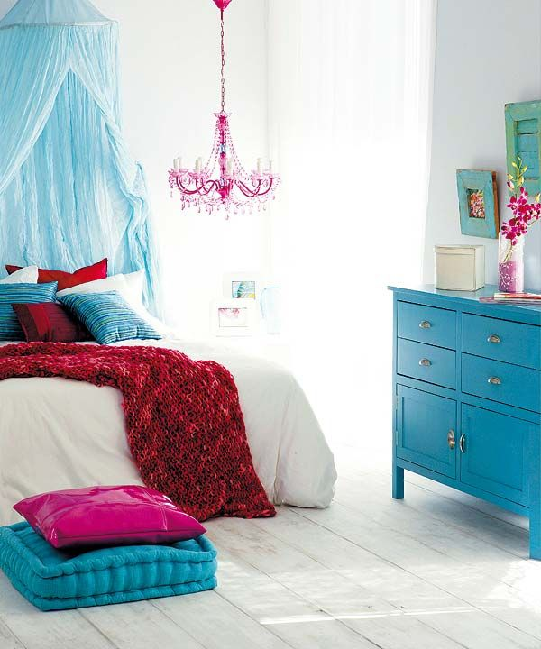 Bright Blue And Fucsia Bedroom Bedroom Ideas Pinterest