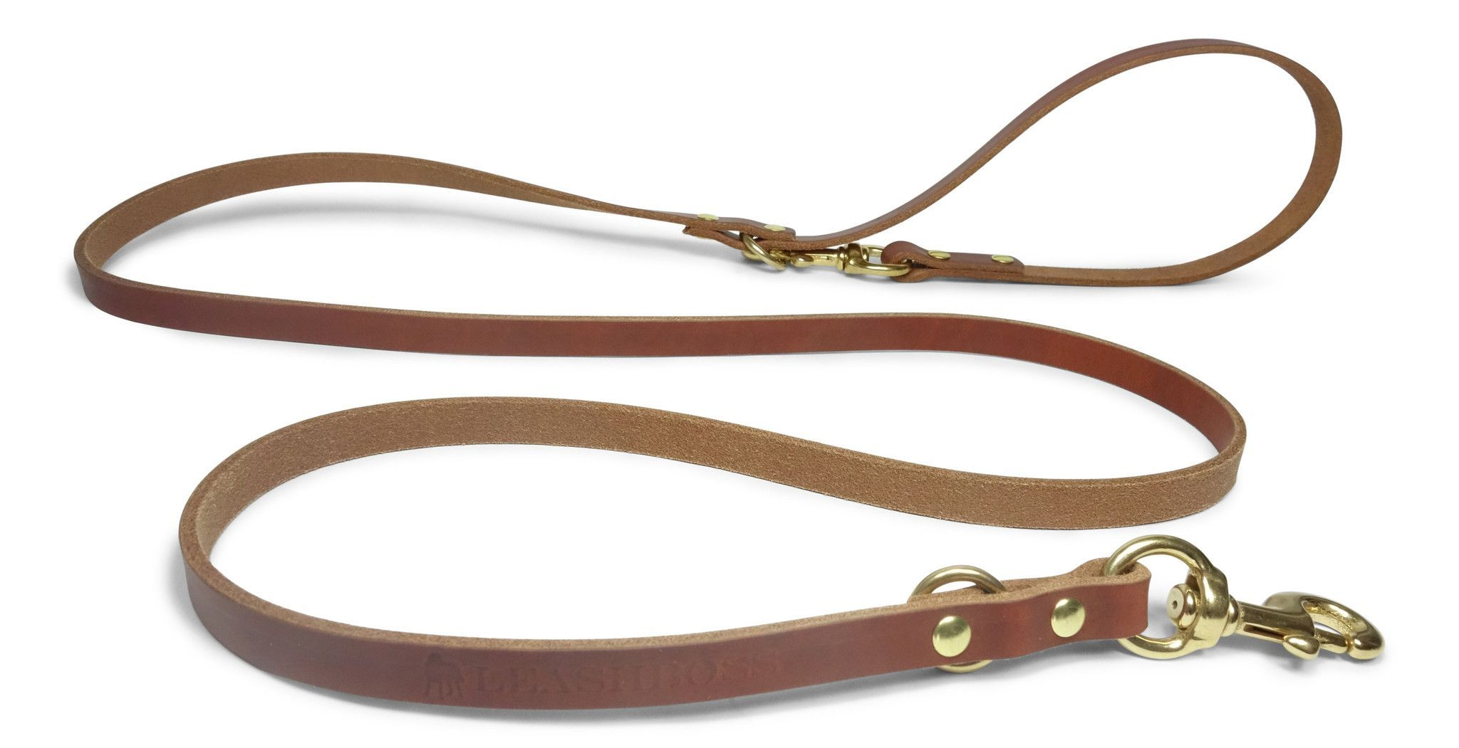 Multi Function Leather Dog Leash for Service Dogs, K9 Training, or Everyday Use
