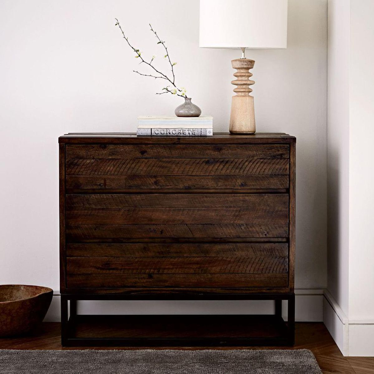 Logan industrial drawer chest smoked brown home inspiration
