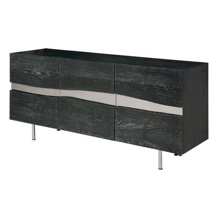 Sorrento Oxidized Grey Wood Sideboard Cabinet
