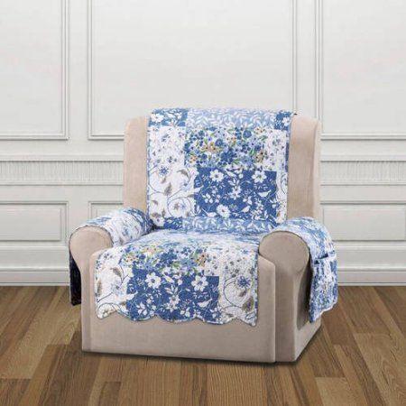 Sure Fit Heirloom Furniture Pet Recliner Cover Blue
