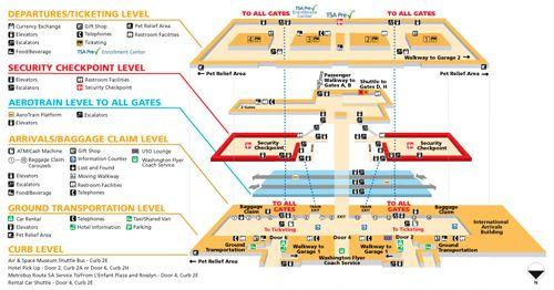 Dulles Terminal & Gate Maps | Washington DC | Map, Washington dulles ...