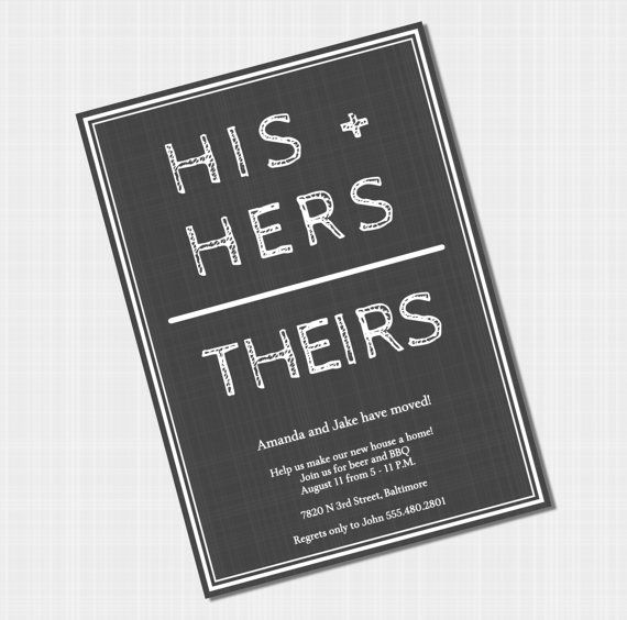 Housewarming Party Invitations - His and Hers Couples Housewarming - best of sample invitation letter for housewarming ceremony