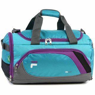 5369868e3213 Fila Advantage Small Sport Duffel Bag with Shoe Pocket (Black) in ...