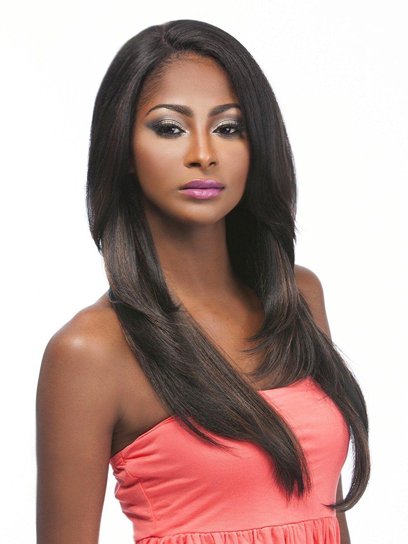 Mega Lace 105 1b Off Black Hair Topic L Part Lace Front Wig