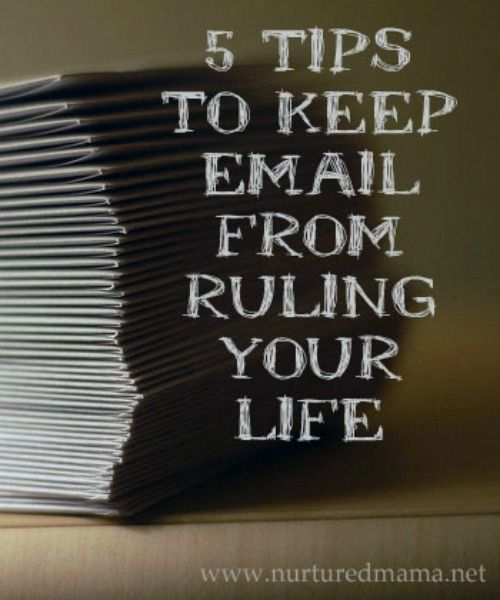 Email doesn't have to be overwhelming. Here are some tips from a professional project manager about how to manage it better - even if your inbox is out of control! :: www.nurturedmama.net