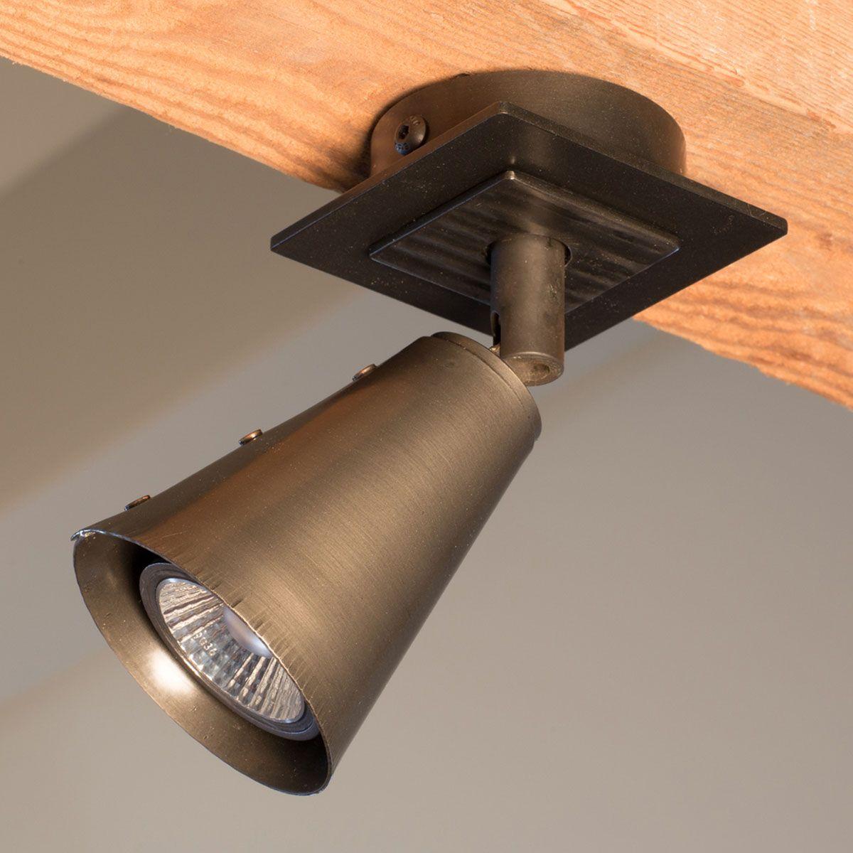 Illions Single Wrought Iron Spotlight
