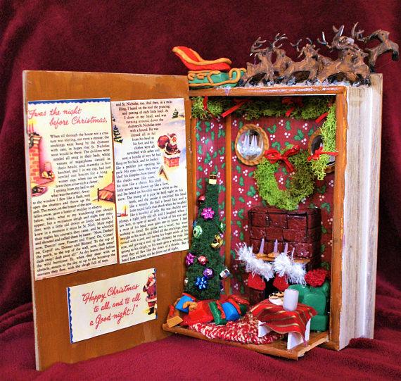 Dollshouse livre miniature-La Nuit Avant Noël