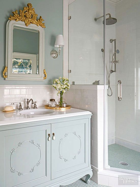 Brocante meubels vintage badkamer | Bathroom Inspiration | Pinterest ...
