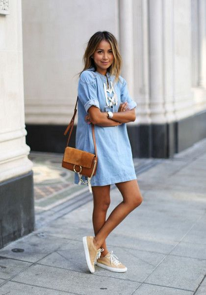 424728c027 Look Chic In Denim Dresses - Summer Roadtrip Outfit Ideas To Try - Photos
