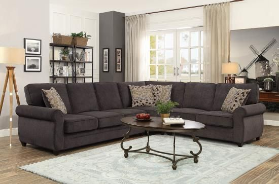 Best Coaster Sectional Sofa With Memory Foam Sleeper Living 400 x 300
