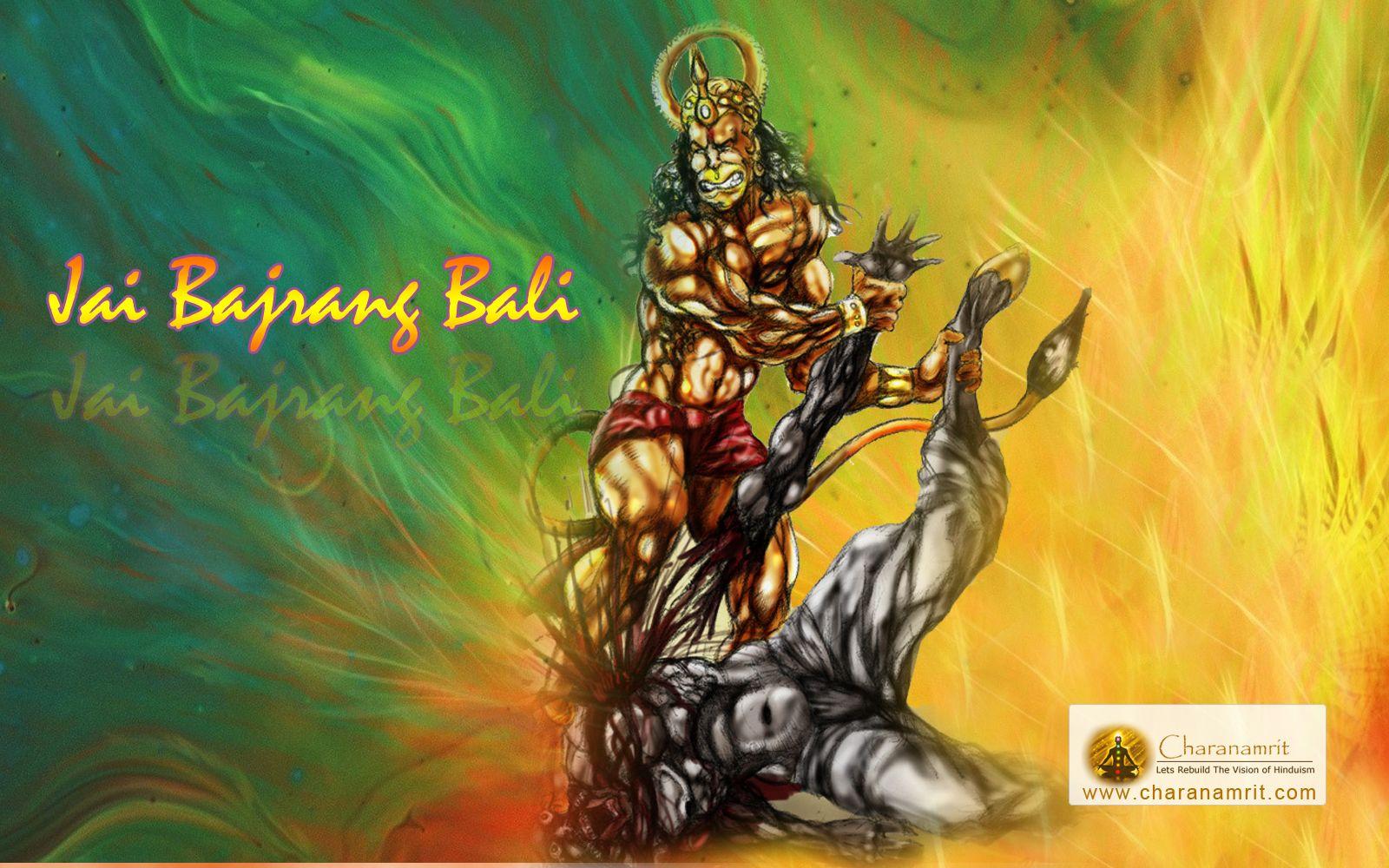 3d Hanuman Angry Wallpaper Hd Hd Wallpaper For Desktop