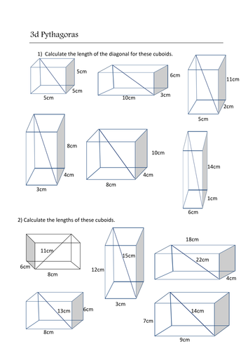 3d pythagorean theorem worksheet as well as 3d pythagorean theorem algebra pinterest d a. Black Bedroom Furniture Sets. Home Design Ideas