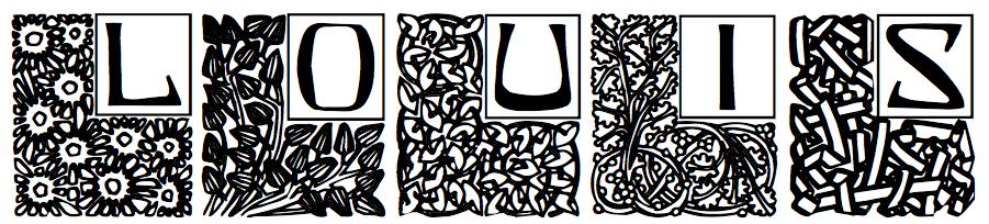 DickPape-Garden Nouveau Initials--2010.png (901×204)