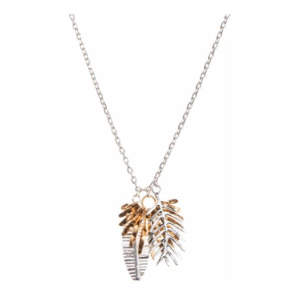 Triple Palm Leaf Pendant (5.290 RUB) ❤ liked on Polyvore featuring jewelry, pendants, chain pendants, chains jewelry, leaves jewelry, palm tree pendant and leaf jewelry