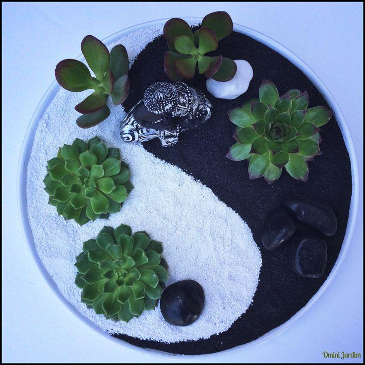 Mini Zen Garden Sukkulenten – #Garden #Mini #Succulents #zen