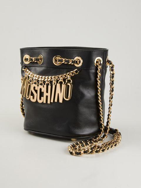 021c06026acb0 Moschino Beuteltasche Mit Logo-kette - Boutique Mantovani - Farfetch ...