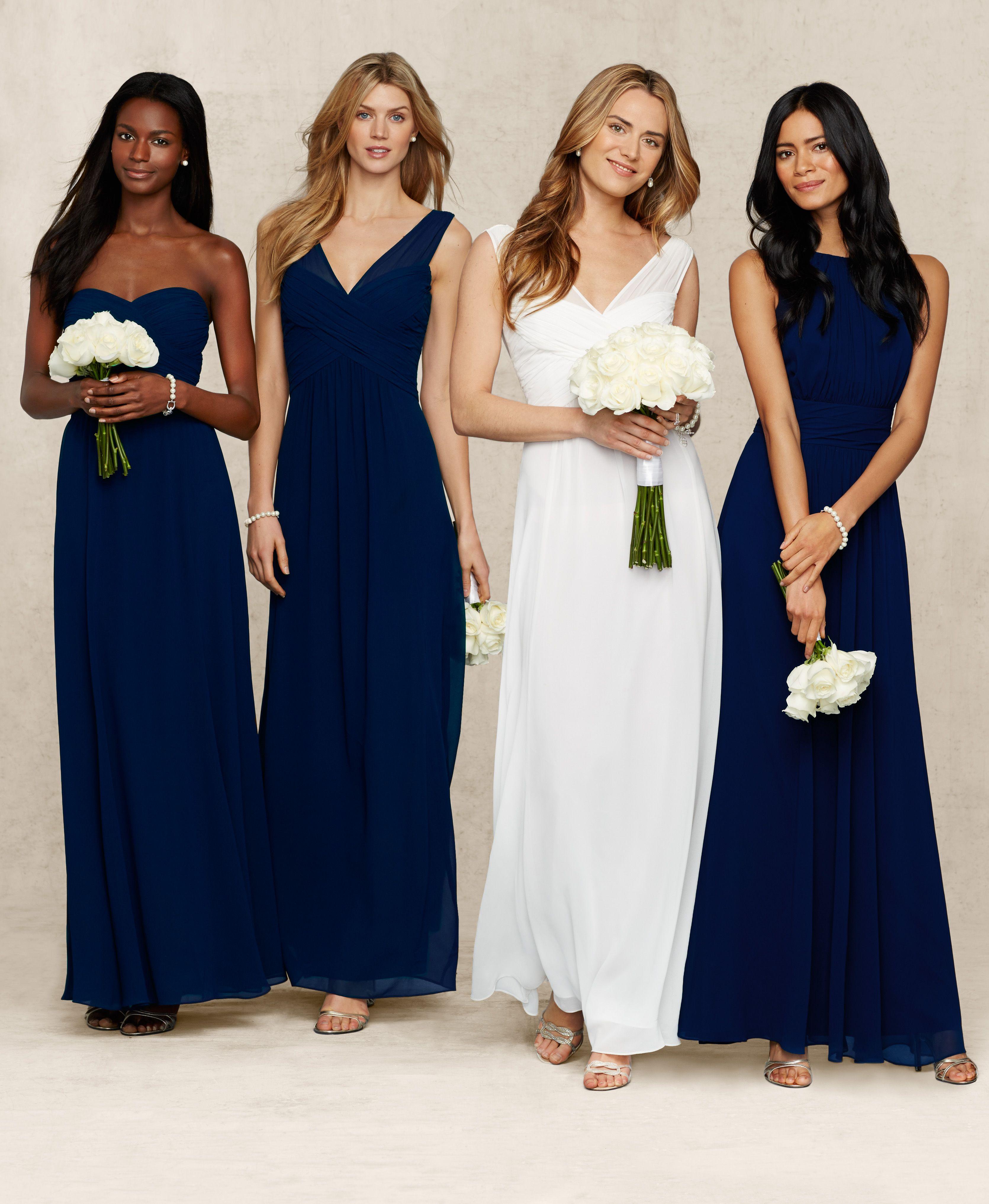 Lauren Ralph Lauren Wedding: Mix and match navy blue bridesmaid ...