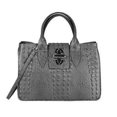 Photo of from ITALYSHOP24.COM ITALy DAMEN LEDER HANDTASCHE Kroko Shopper Schultertasche H…
