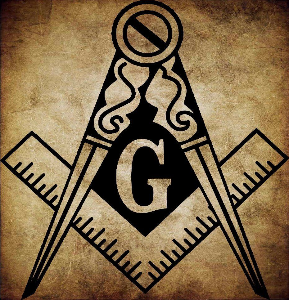 Masonic Square Compass Symbol Design files Masonic Symbol