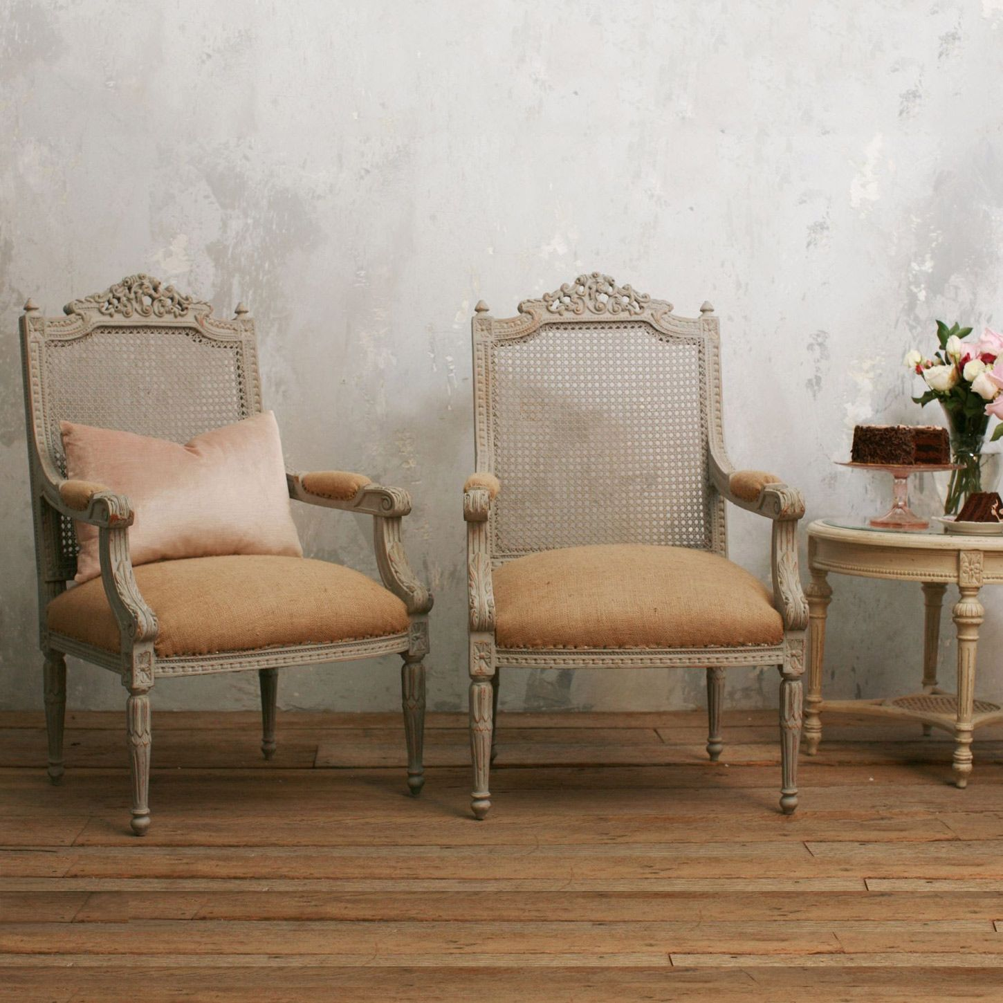 Perfect One Of A Kind Vintage Armchairs Louis XVI Gustavian Grey Set Of 2 Pictures