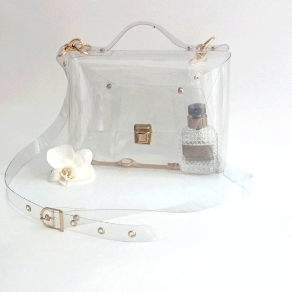 Crossbody Bag Clear See Through Plastic Pvc Vinyl By Ypsilonbags
