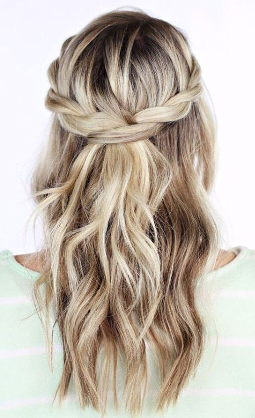 easy hair styles for school twisted crown hair crown hair style and 2360