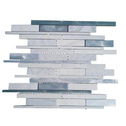 Industrial Asiago Metal Mosaic Tile