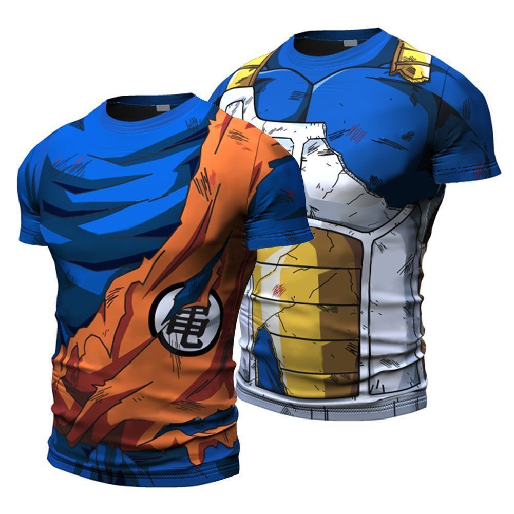 10.49 - Men s Dragon Ball Son Vegeta Tops Sport Short Sleeve Costume  Jersey T-Shirts  ebay  Fashion 0c5a1b29624
