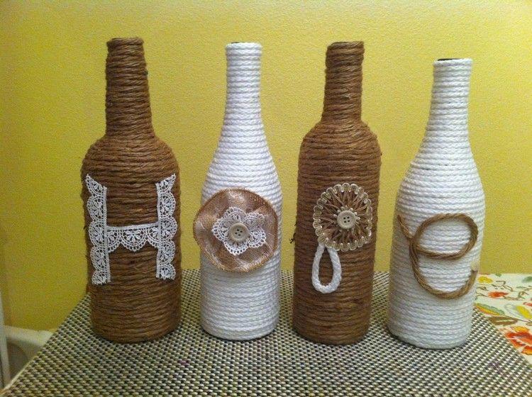 decorated glass bottles. DIY Decorations from Reuse Glass Bottles  bottle D cor