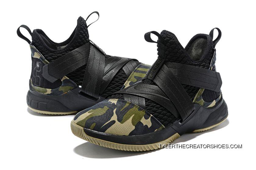 e35fee12e9d64 Super Deals Nike LeBron Soldier 12 Sfg 'Camo' Black/Black-Hazel Rush ...