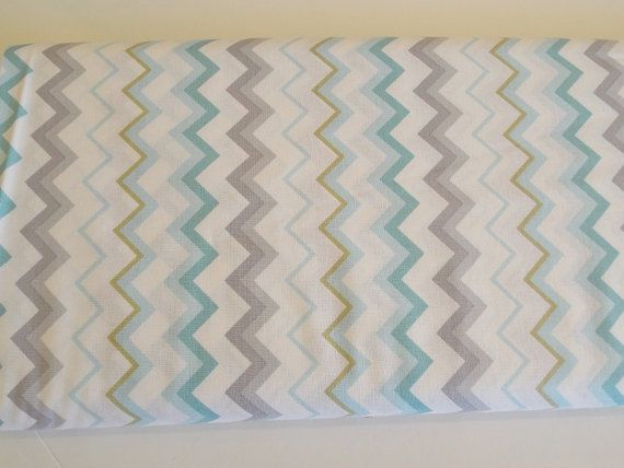 QT  Special Delivery  chevron blue green and by VistrasBoutique, $9.75