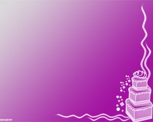 Free Cake Powerpoint Template Over Pink Background Color