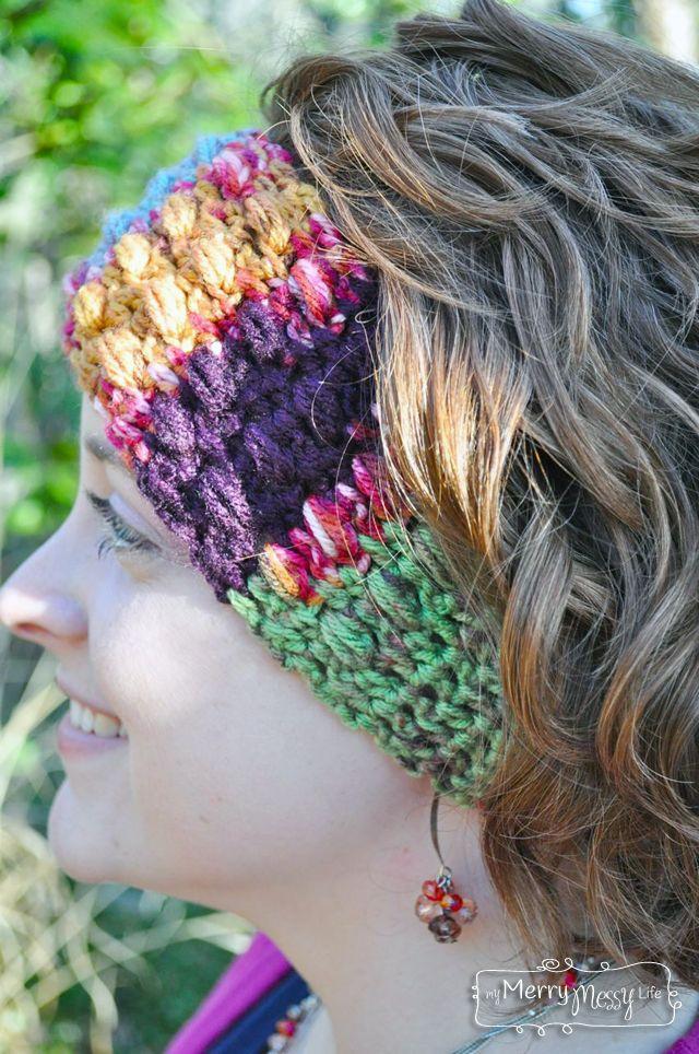 Crochet Puff Stitch Ear Warmers - Free Pattern   La oreja, Mi vida y ...