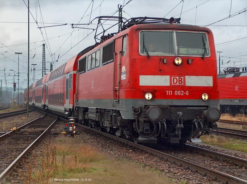 111 0626 mit dem RE 5155 Freiburg(Brsg)Hbf Basel SBB am