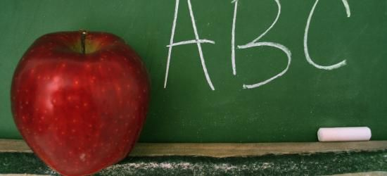 Apples for the teacher, ABC time is about over for another year - can anyone say yaaayy