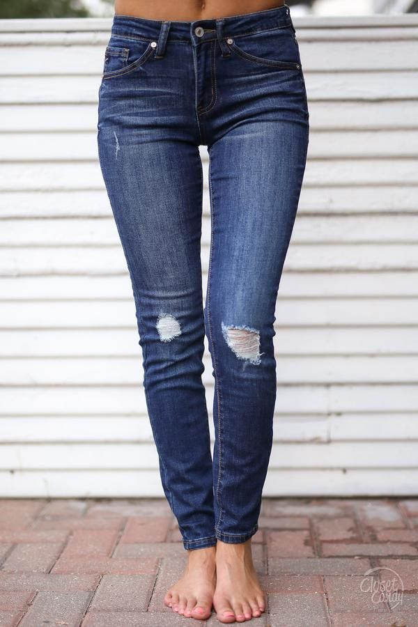 11c685d8d48b Kan Can Classic Blues Distressed Jeans - Dark Wash. Find this Pin and more  on Closet Candy Boutique ...