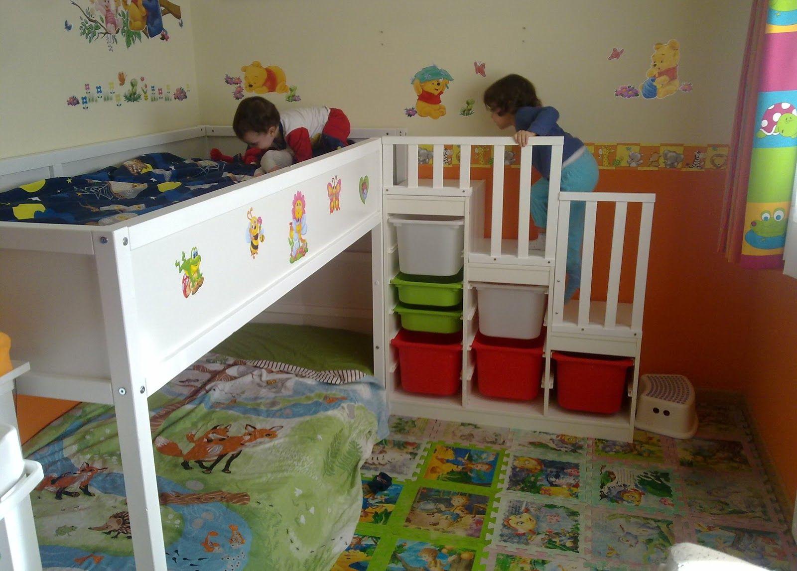 Construyendo una familia su litera cama kura for Habitaciones para ninas de 7 anos