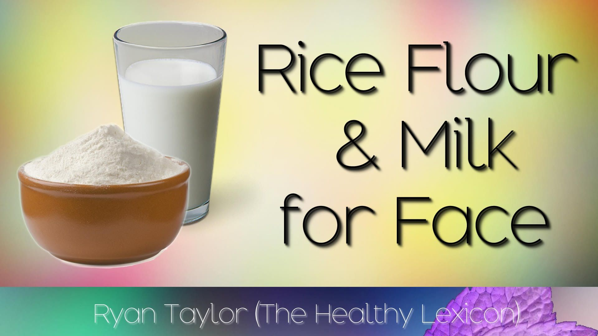 Rice and Milk for Skin (Facemask) Milk, Face mask, Rice