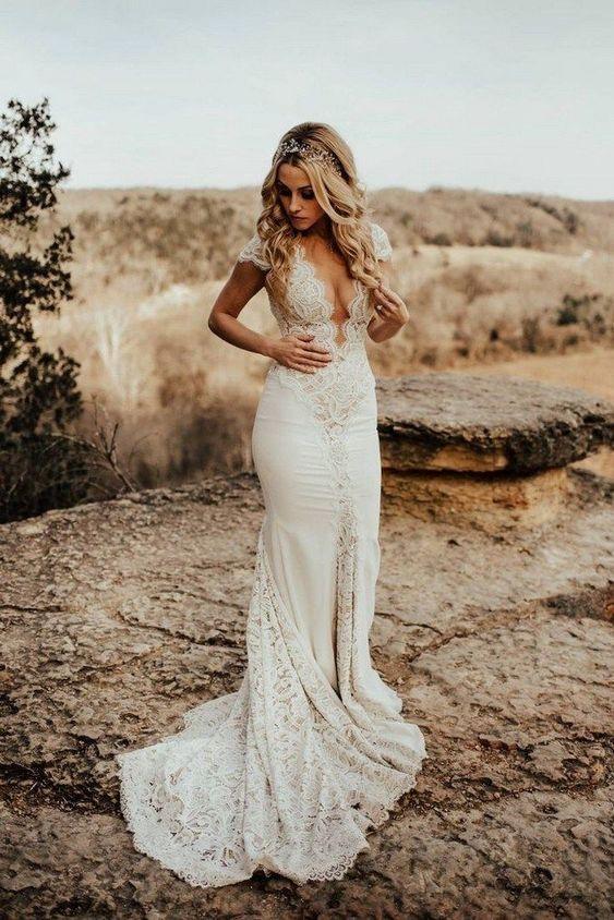 20 Wedding Dresses for a Boho Bride